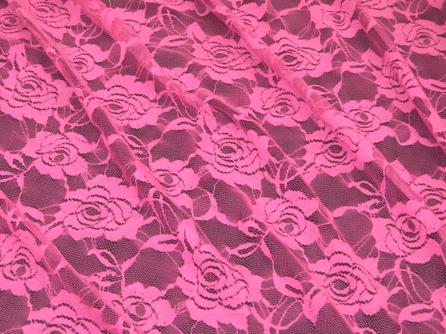 Bright fuchsia stretch fabric