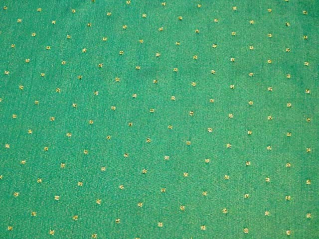 Kerry Green/Gold Polka Dots Metallic Fabric