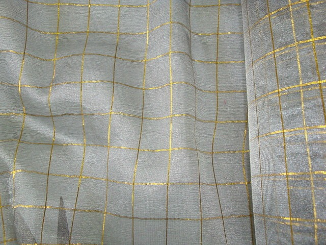 Gold/Grey Metallic Sheer Fabric