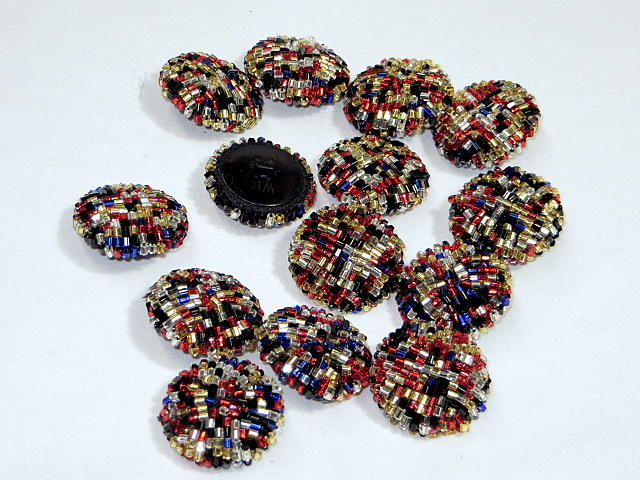 Multi Colors Beaded Buttons