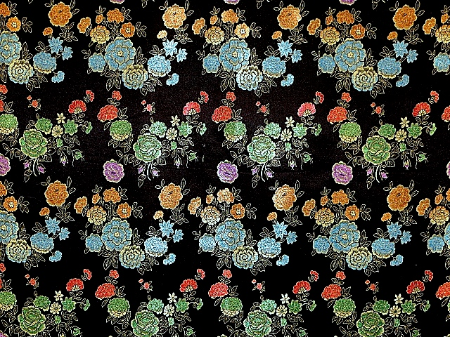Rose Flowers Brocade Fabric