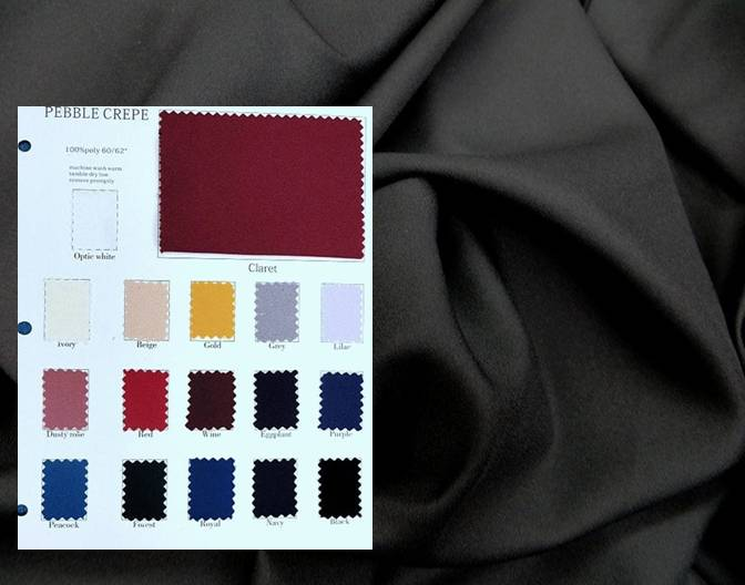 Pebble Crepe Fabric Solid Colors