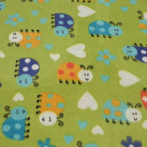 Animated Bugs Fleece Fabric