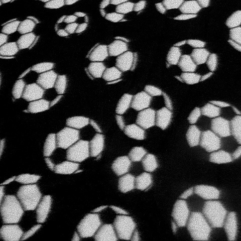 Soccer ball fleece fabric