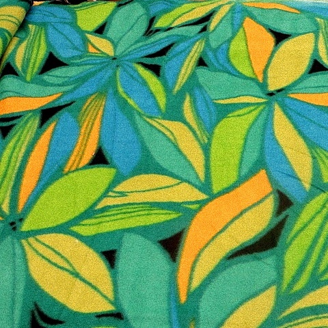 Tropical Print Fleece Fabric