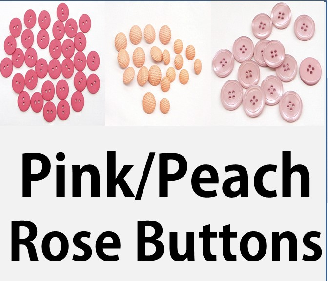 Pink, Peach & Rose Buttons