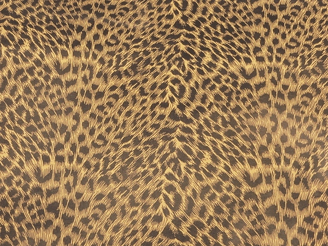 Cheetah Vinyl For Apparel/Decor/Hospitality Applications