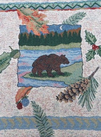 Bear Pillow/Throw Pillow Tapestry Panel