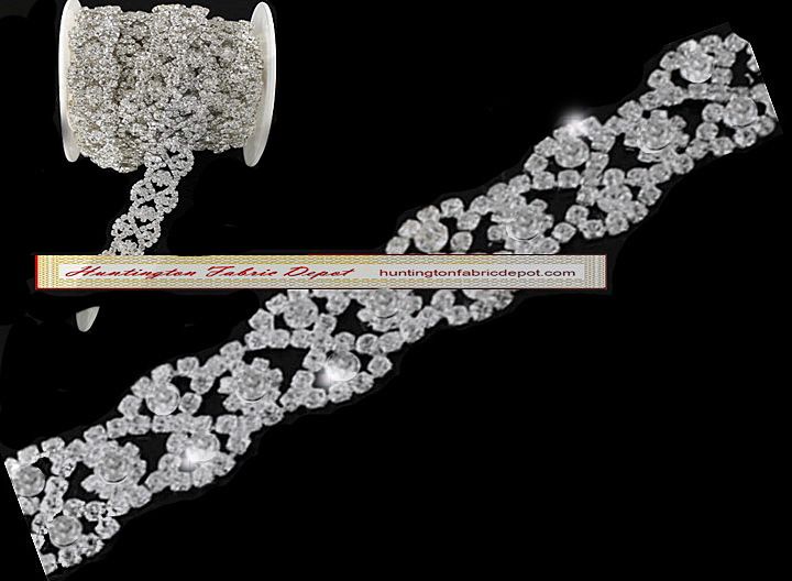 Elegant Design-Brilliant Clear Rhinestone Trim