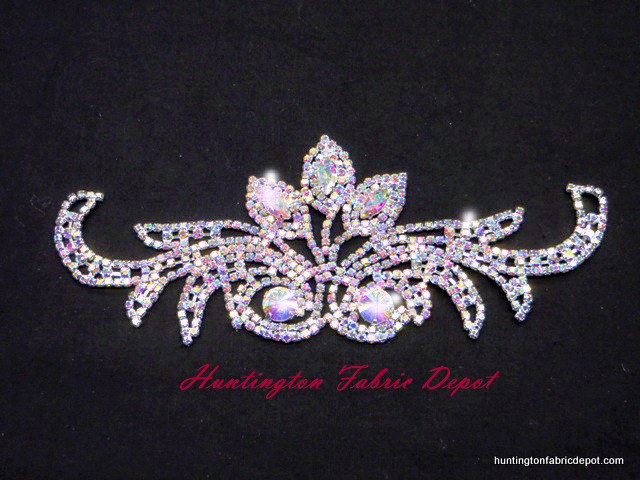 Brilliant 7.5-inch AB Rhinestone Applique