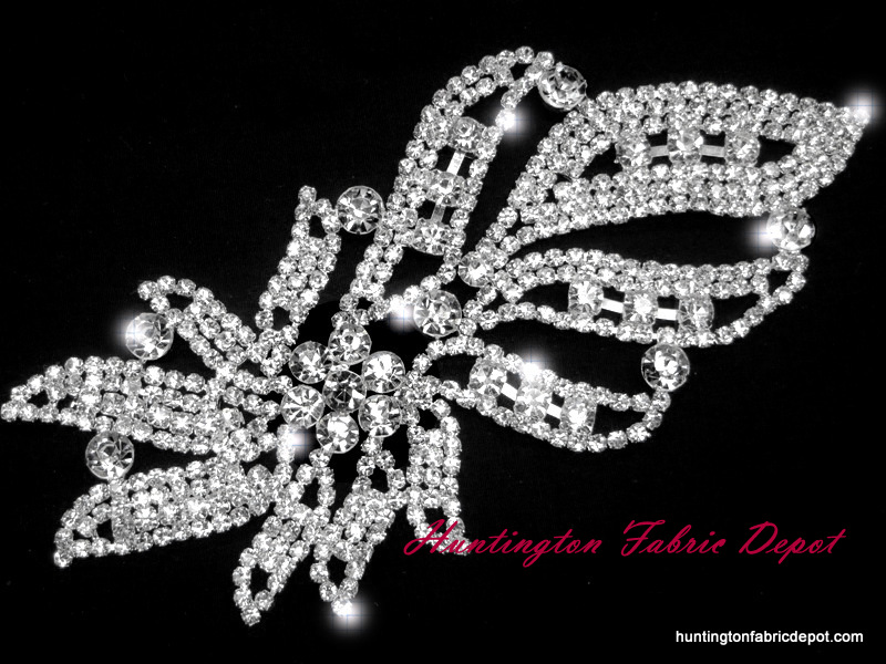 Brilliant 6.5-inch Rhinestone Applique
