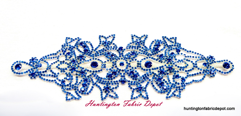Brilliant Capri (Royal Blue) Rhinestone Applique