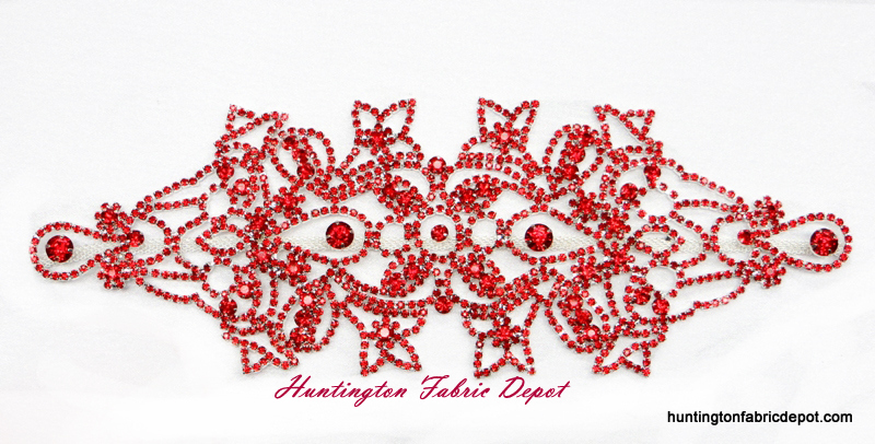 Brilliant Light Sian(Red) Rhinestone Applique