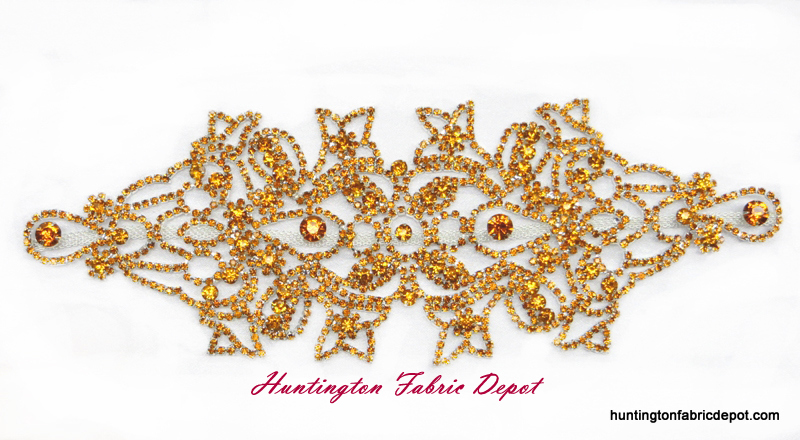 Brilliant Topaz (Light Brown) Rhinestone Applique