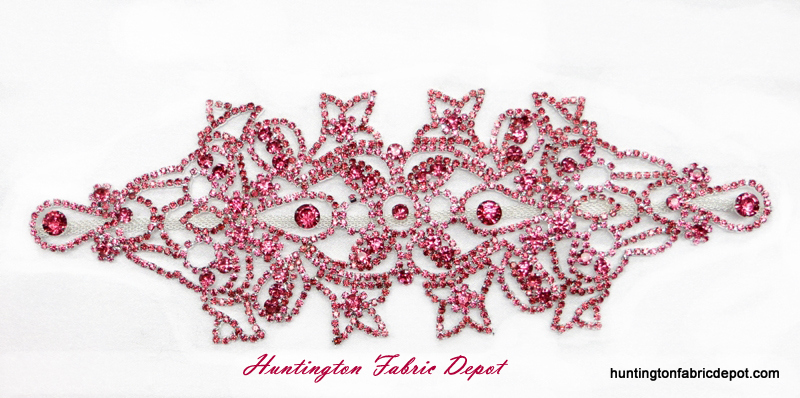 Brilliant Rose Rhinestone Applique