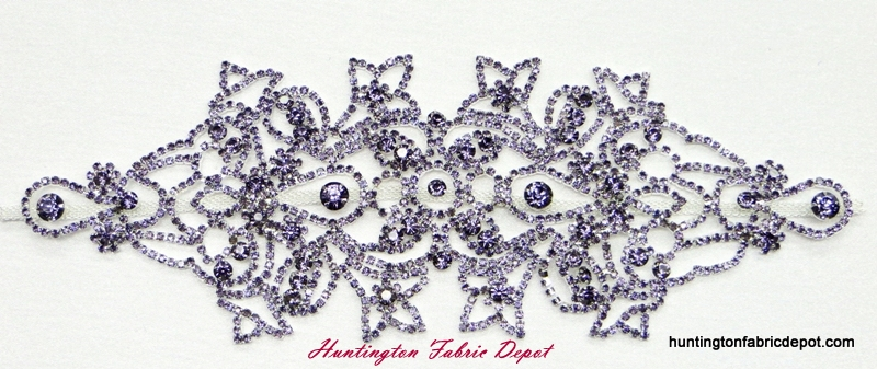 Brilliant Tanzanite(Light Purple/Lavender) Rhinestone Applique