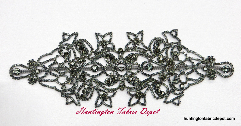 Brilliant Dark Green Rhinestone Applique