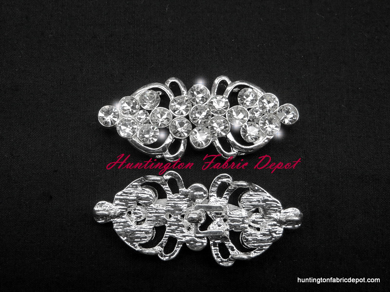Brilliant Rhinestone Hook & Eye Closures