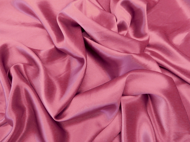 Hot Pink Silk Charmeuse Satin