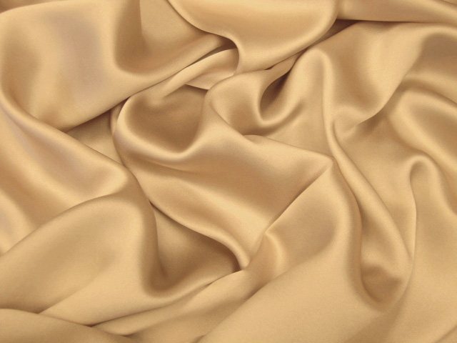 Light Gold Silk Charmeuse Satin