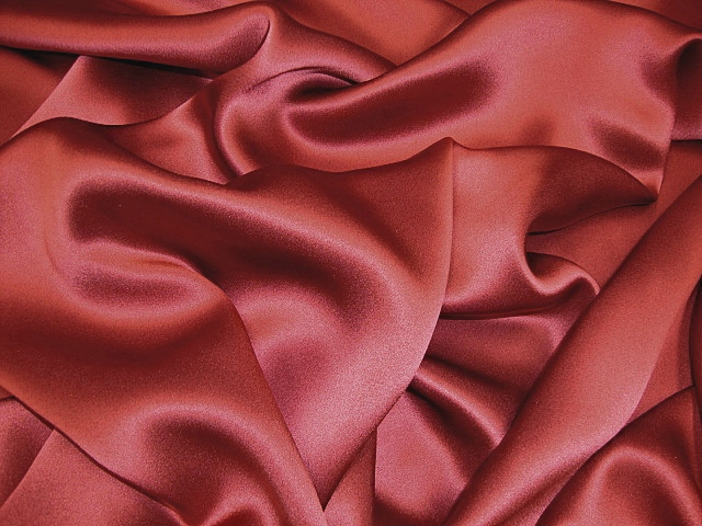 Dark Red Silk Charmeuse Satin