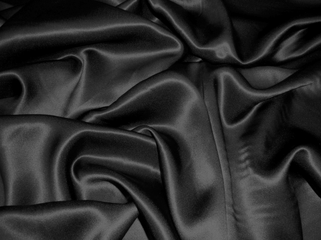 Black Silk Charmeuse Satin