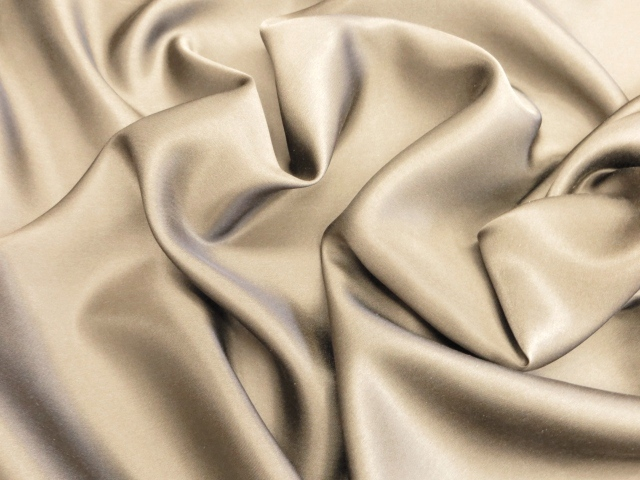 Light Beige Silk Charmeuse Satin