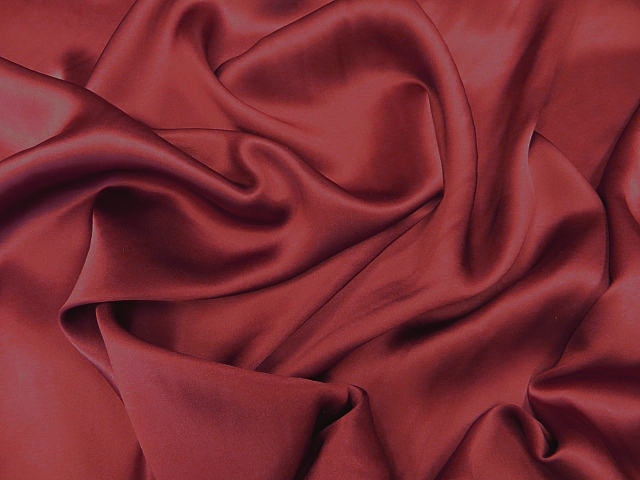 Burgundy Silk Charmeuse Satin