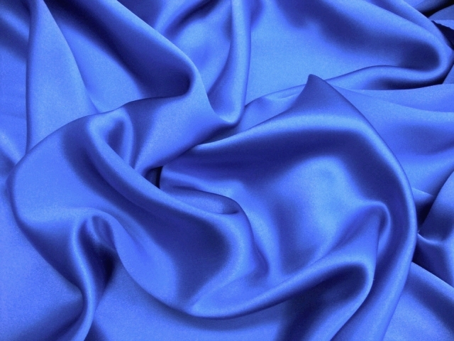 Royal Blue Silk Charmeuse Satin