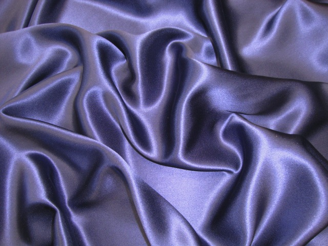Purple Silk Charmeuse Satin