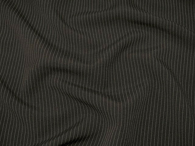 Black Pinstripe Suiting Fabric