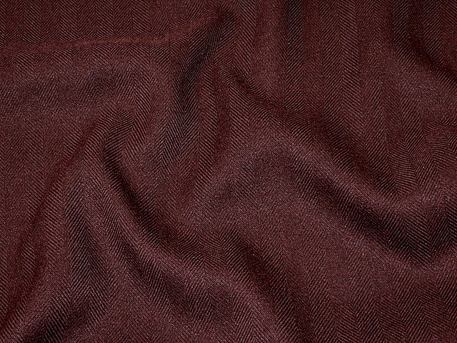 Burgundy Twill Suiting Fabric