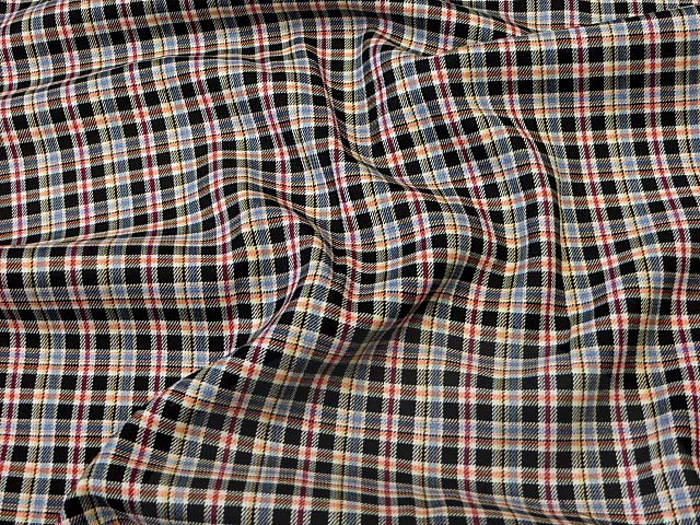 Plaid Suiting Material