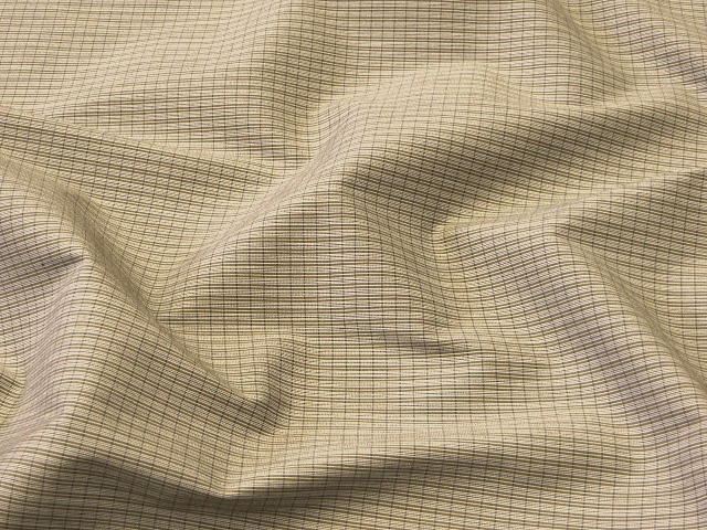 Beige/Ivory Striped Suiting Fabric