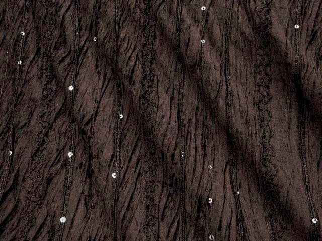 Brown Creased/Crinkled Velvet with Sequins