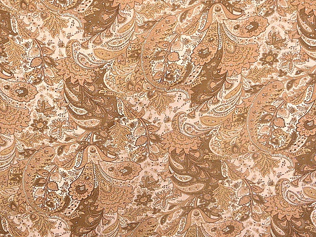 Paisley Chiffon Fabric with Sequins