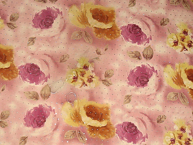 Pink rose chiffon with sequins