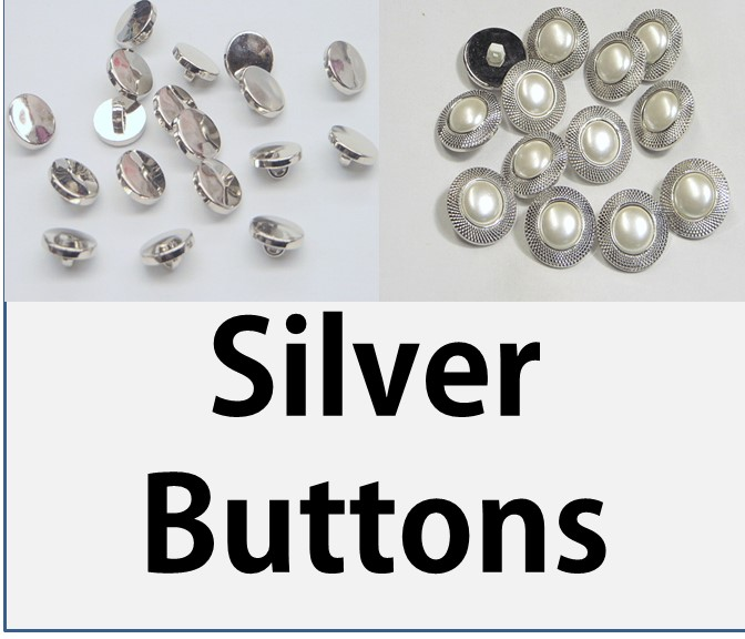 Silver & Antique Silver Buttons