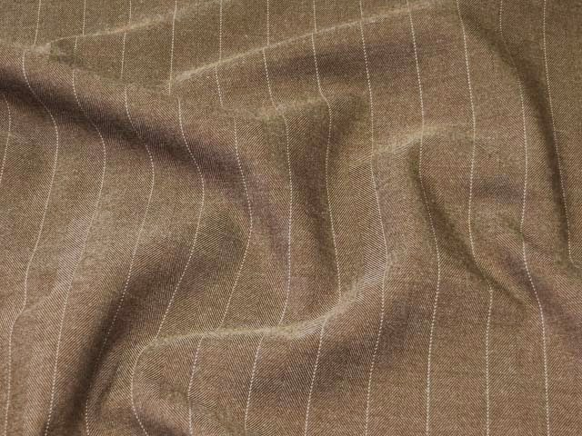 Brown Stripe Suiting Fabric
