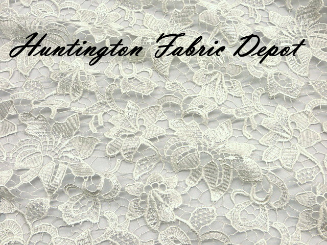 Ivory Guipure Lace Fabric