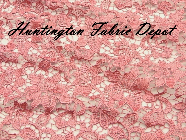 Rose Guipure Lace Fabric
