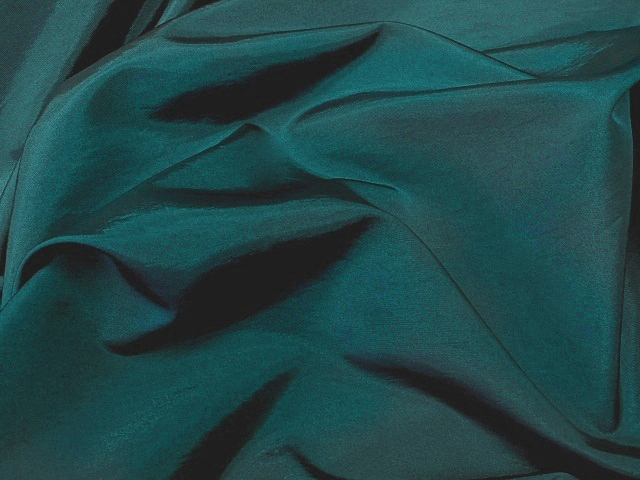 Dark Oriental Teal Taffeta Fabric