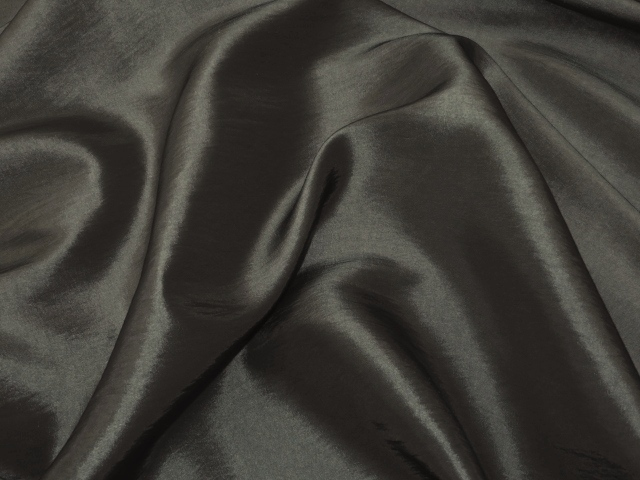 Charcoal Taffeta Fabric