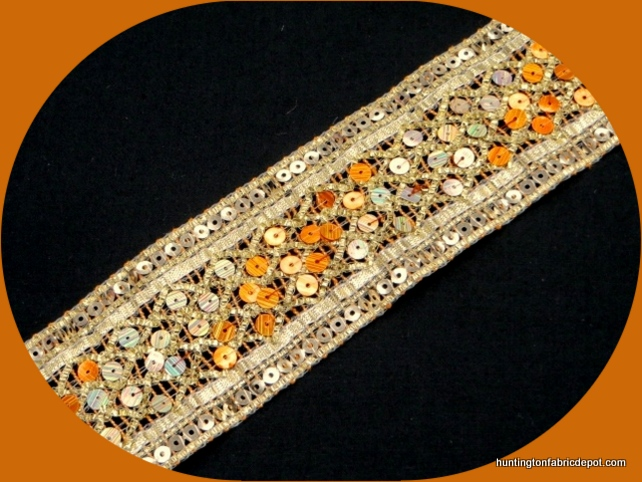 Orange and Gold Sequin Trim