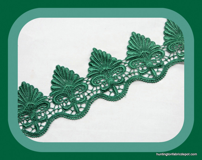 Green Guipure Lace Trim