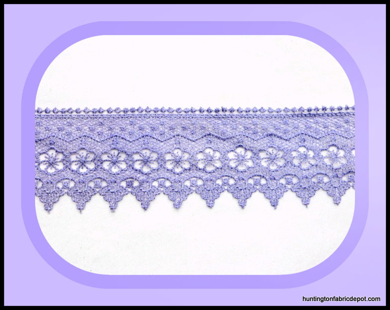 Lilac Scalloped Guipure Lace Trim