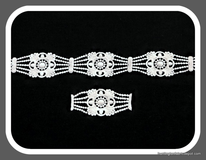 White Guipure Lace Trim/Applique by The Yard