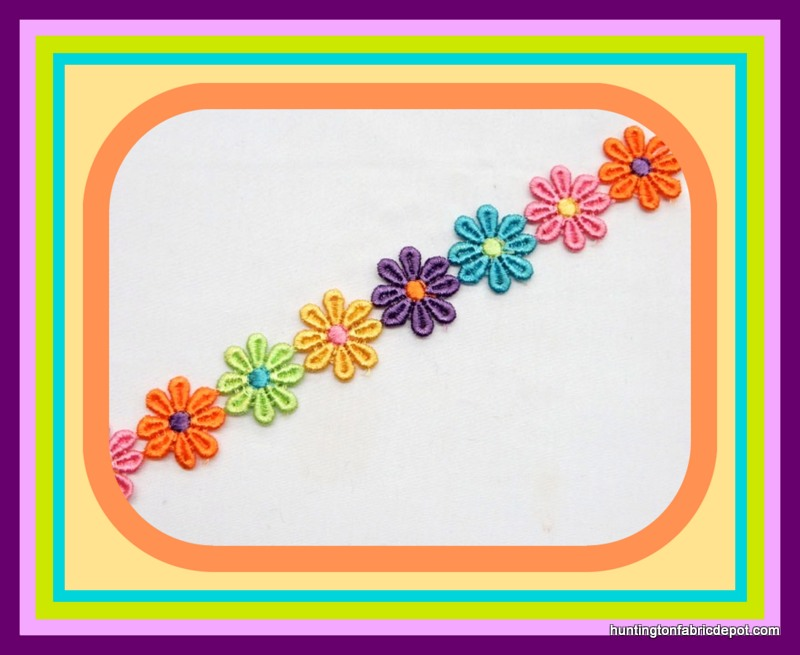 Multi Colored Daisy Trim