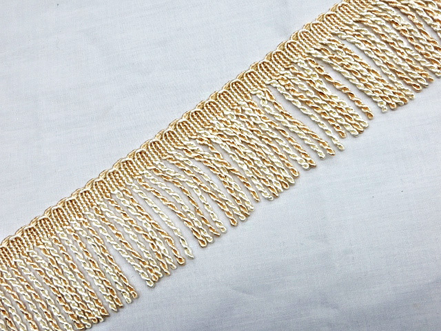 "3"" Off-white & Ivory Bullion Fringe Trim"