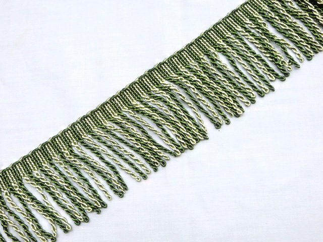 "3"" Green Bullion Fringe Trim"